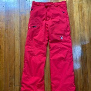 Spyder red ski pants